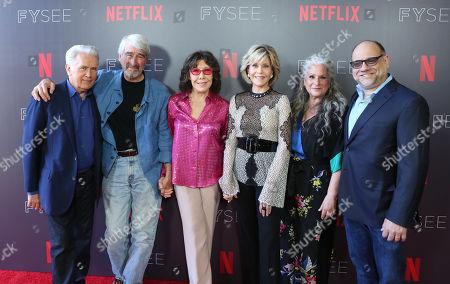 Stock Picture of Martin Sheen, Sam Waterson, Lily Tomlin, Jane Fonda, Marta Kauffman and Howard J. Morris