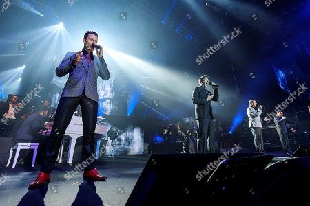 The opera-pop quartet Il Divo, Swiss Urs Buhler, Spanish Carlos Marin, US David Miller and French Sebastien Izambard, open their European tour at the Gran Canaria Arena in Las Palmas de Gran Canaria, Canary Islands, Spain, 02 June 2018.