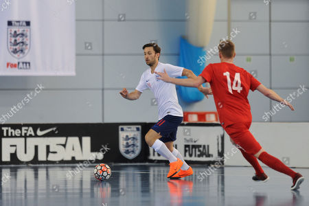 Stock Photo of Richard Ward of England controls the ball during England vs Poland, International Futsal Friendly at St George's Park on 2nd June 2018