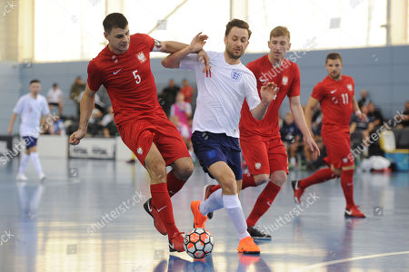 Editorial image of England vs Poland, International Futsal Friendly Match, Futsal, St George's Park, Burton upon Trent, Derbyshire, United Kingdom - 02 Jun 2018