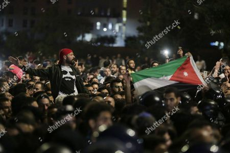Editorial photo of Protest against new income tax in Amman, Jordan - 03 Jun 2018