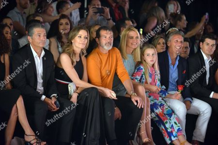 Nicole Kimpel, Antonio Banderas, Valeria Mazza, Tatiana Gravier and Alejandro Gravier