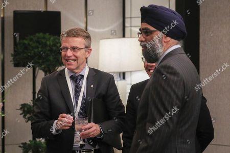 Jan Salestrand, Maliki Osman and Harjit Singh Sajjan