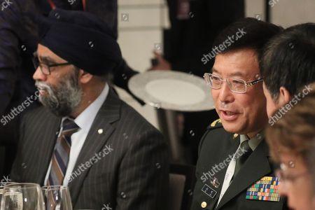 Harjit Singh Sajjan and He Lei