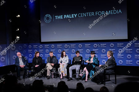 Stock Photo of Bill Groom, Donna Zakowska, David Mullen, Rachel Brosnahan, Daniel Palladino, Amy Sherman-Palladino and Peter Travers