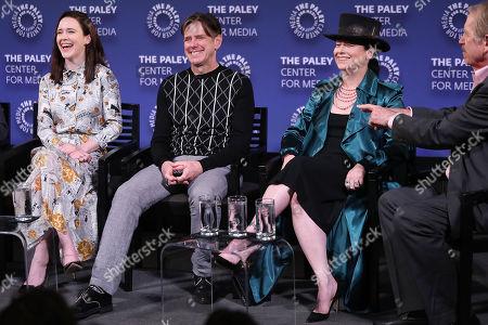 Rachel Brosnahan, Daniel Palladino, Amy Sherman-Palladino and Peter Travers