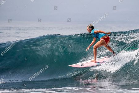 Lakey Peterson of the USA in action during the finals of the Corona Bali Protected surfing event as part of the World Surf League Championship Tour in Keramas, Bali, Indonesia, 03 June 2018.