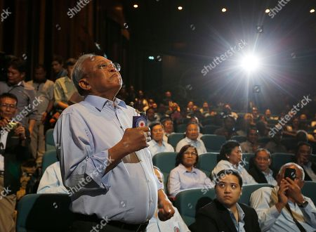 Suthep Thaugsuban, Thai former protest leader of People's Democratic Reform Committee and former of Democrat Party secretary-general, sheds a tear as he gives a speech on the reasons for establishing a political party during the first meeting of the Action Coalition for Thailand (ACT) party at Rangsit University in Bangkok, Thailand, 03 June 2018. Suthep who is one of the co-founders of ACT party, as launch to the publicly in the meeting between the co-founders and supporters on 03 June.