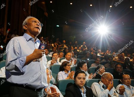 Stock Photo of Suthep Thaugsuban, Thai former protest leader of People's Democratic Reform Committee and former of Democrat Party secretary-general, speaks on the reasons for establishing a political party during the first meeting of the Action Coalition for Thailand (ACT) party at Rangsit University in Bangkok, Thailand, 03 June 2018. Suthep who is one of the co-founders of ACT party, as launch to the publicly in the meeting between the co-founders and supporters on 03 June.
