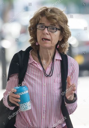 Stock Photo of Greek Economist Vicky Pryce arrives at the BBC Studios