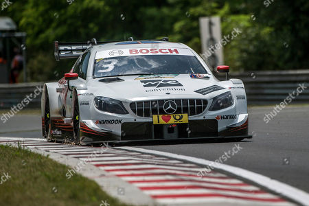 Great Britain's Paul di Resta drives his Mercedes to win the first heat of the Hungarian round of the German Touring Car Masters, DTM, on the Hungaroring circuit in Mogyorod, 23 kms north-east of Budapest, Hungary, 02 June 2018. .