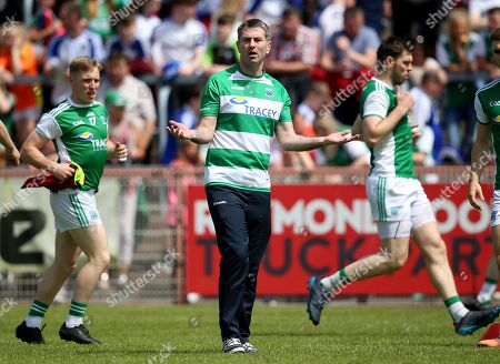 Fermanagh vs Monaghan. Fermanagh manager Rory Gallagher