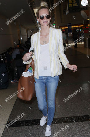 Editorial picture of Poppy Delevigne at LAX International Airport, Los Angeles, USA - 01 Jun 2018