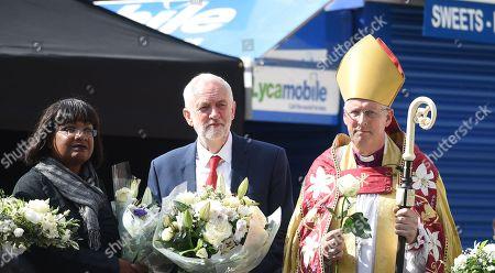 Jeremy Corbyn, Diane Abbot and Andrew Nunn