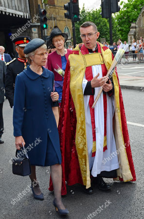 Birgitte, Duchess of Gloucester, GCVO DGCCT takes part in the procession from Southwark Cathedral to London Bridge.