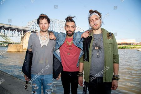 Zambricki Li, Zang, Austin Bisnow. Zambricki Li, from left, Zang, Austin, and Bisnow of Magic Giant pose at the Bunbury Music Festival, in Cincinnati