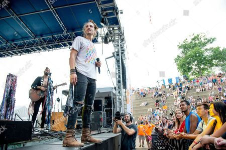 Stock Photo of Austin Bisnow of Magic Giant performs at the Bunbury Music Festival, in Cincinnati