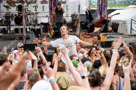 Austin Bisnow of Magic Giant performs at the Bunbury Music Festival, in Cincinnati