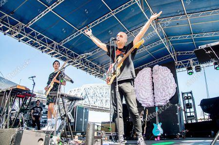 Landon Jacobs, Jason Suwito. Jason Suwito, left, and Landon Jacobs of Sir Sly perform at the Bunbury Music Festival, in Cincinnati