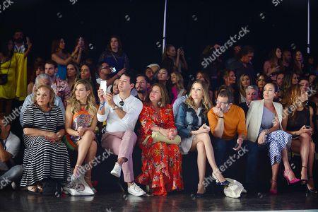 Fanny Lu, Rene Ruiz, Nicole Kimpel, Antonio Banderas and Nieves Alarez in the front row