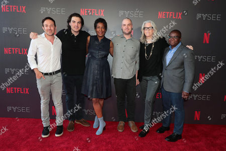 Bryan Fogel, Director/Writer/Producer of Icarus, Maclain Way, Director of Wild Wild Country, Dawn O'Porter, Director/Executive Producer of Bobby Kennedy for President, Chapman Way, Director of Wild Wild Country, Joslyn Barnes, Producer of Strong Island, Yance Ford, Director/Producer of Strong Island,