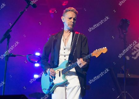 """Martin Gore of the band Depeche Mode performs in concert during their """"Global Spirit Tour"""" at The Wells Fargo Center, in Philadelphia"""
