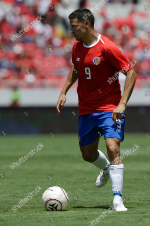Costa Rica's Daniel Colindres dribbles the ball during a friendly soccer match against Northern Ireland in San Jose, Costa Rica