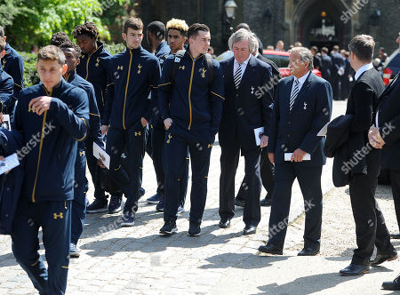 Ugo Ehiogu Funeral 10/05/17 Pat Jennings And Gary Mabbutt With Spurs Youth Team.