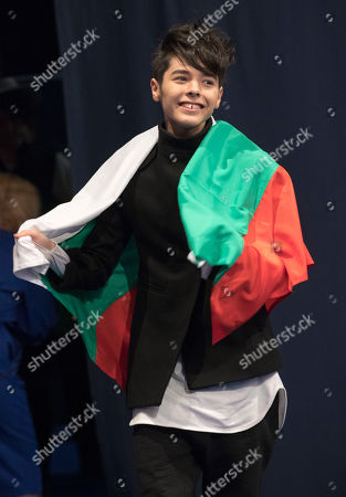 Kristian Kostov The Eurovision Entrant For Bulgaria Qualifies For The Grand Final At The Second Semi Final Of The Eurovision Song Contest 2017 At The International Exhibition Centre Forkiev Ukraine.