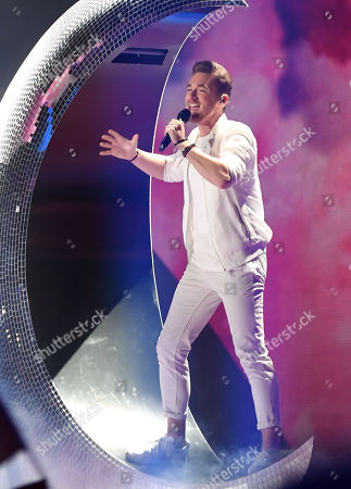 Nathan Trent The Eurovision Entrant For Austria Qualifies For The Grand Final At The Second Semi Final Of The Eurovision Song Contest 2017 At The International Exhibition Centre For Kiev Ukraine.