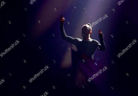 Editorial picture of Slavko Kalezic The Eurovision Entrant For Montenegro Performs On Stage In The First Semi-final Of The Eurovision Song Contest 2017.
