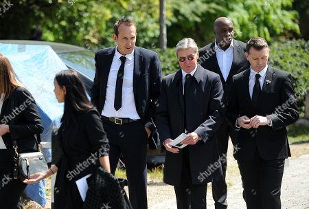 Mark Schwarzer (far Left) Attends Ugo Ehiogu's Funeral.