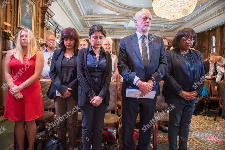 Editorial photo of Pictured-corbyn's Wife Laura Alvarez Shami Chakrabarti And Diane Abbot With Corbyn. Jeremy Corbyn Has Resumed His Election Campaign With A Speech In Westminster Today Friday 29th May 2017 Saying The Current Terror Threat Is Linked To The Wars On Ter