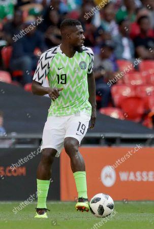 Editorial picture of Britain England Nigeria Soccer, London, United Kingdom - 02 Jun 2018
