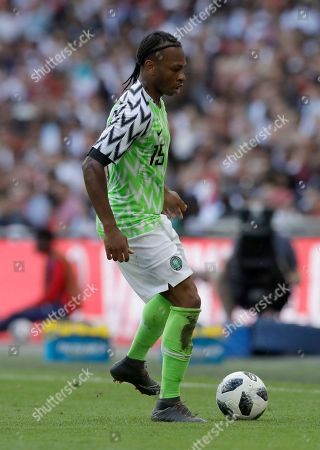 Stock Image of Nigeria's Joel Obi during a friendly soccer match between England and Nigeria at Wembley stadium in London