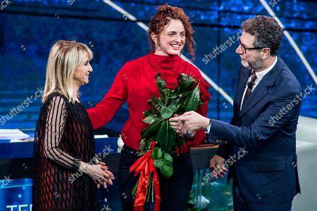 Luciana Littizzetto, Alice Rohrwacher, Fabio Fazio