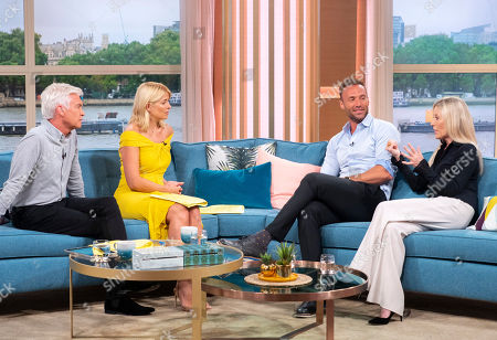Phillip Schofield and Holly Willoughby with Calum Best and Angie Best