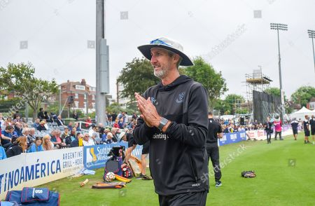 Sussex coach Jason Gillespie at the 50 over cricket tour match between Sussex and Australia at The 1st Central County Ground in Hove. 07 June 2018