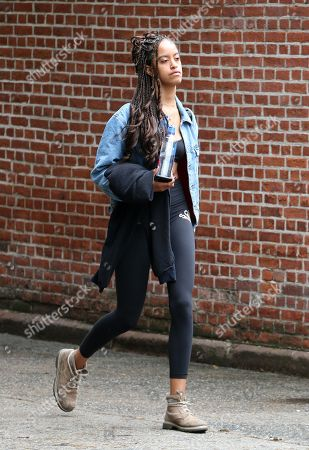 Editorial picture of Malia Obama out and about, New York, USA - 04 Jun 2018