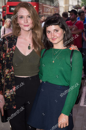 Stock Picture of Olivia Hallinan and Ruby Bentall