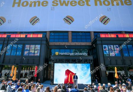 McDonald's President and CEO Steve Easterbrook speaks during the grand opening of the McDonald's Corporation global headquarters in Chicago, Illinois, USA, 04 June 2018. McDonald's has moved to the West Loop area of Chicago from former headquarters in Oak Brook, Illinois where it was previously located. McDonald's had its headquarters in Chicago from its founding in 1955 until 1971.