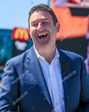 McDonald's President and CEO Steve Easterbrook laughs during the grand opening of the McDonald's Corporation global headquarters in Chicago, Illinois, USA, 04 June 2018. McDonald's has moved to the West Loop area of Chicago from former headquarters in Oak Brook, Illinois where it was previously located. McDonald's had its headquarters in Chicago from its founding in 1955 until 1971.