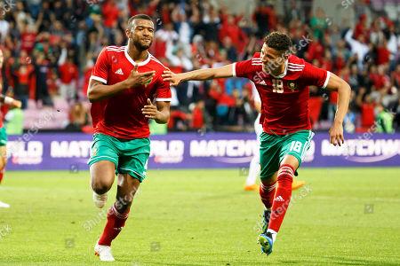 Ayoub El Kaabi and Amine Harit