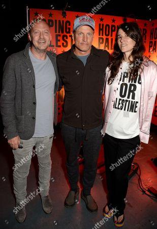 Matthew Freud, Woody Harrelson and Bella Freud