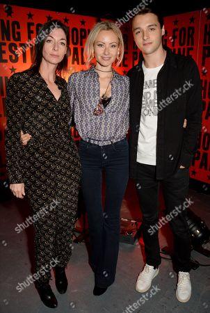 Mary McCartney, Camilla Al-Fayed and Arthur Donald