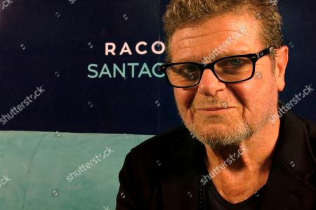 """Argentina's music producer Gustavo Santaolalla poses for a portrait in Mexico City. After producing many albums for bands like Cafe Tacvba and Caifanes, Santaolalla is presenting his work as a solo artist and will perform his album """"Raconto"""" in concert in Mexico City on Sept. 25"""