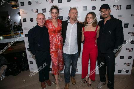Adam Gillen (Chris), Neve McIntosh (Sharla), Steffan Rhodri (Ansel), Sophie Cookson (Dottie) and Orlando Bloom (Killer Joe)