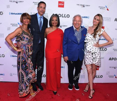 Karen Phillips, Charles Phillips, Jonelle Procope, Robert Kraft and Ricki Lander