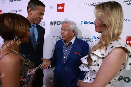 Karen Phillips, Charles Phillips, Robert Kraft and Ricki Lander