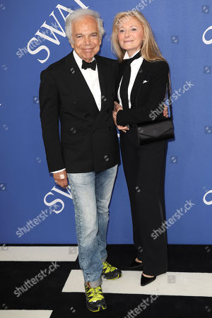 Stock Photo of Ralph Lauren and Ricky Anne Loew-Beer